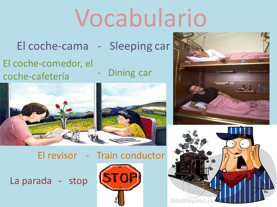 Vocabulario El coche-cama - Sleeping car