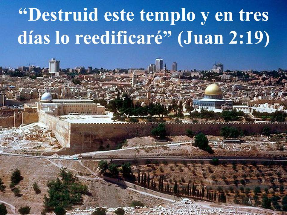 Resultado de imagen de destruid este templo y en tres días lo levantaré