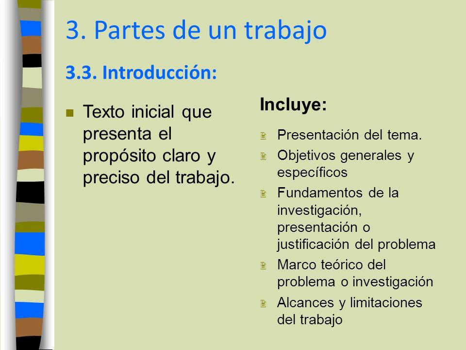 PARTES DE UN TRABAJO DE INVESTIGACIÓN - ppt video online descargar