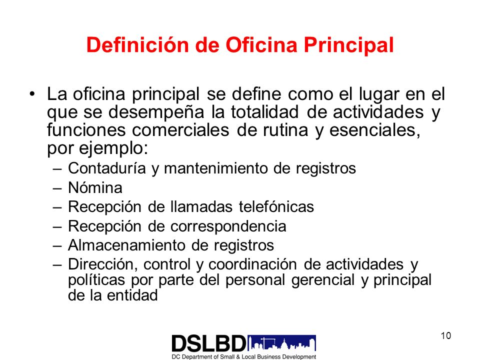 Department of Small and Local Business Development - ppt descargar