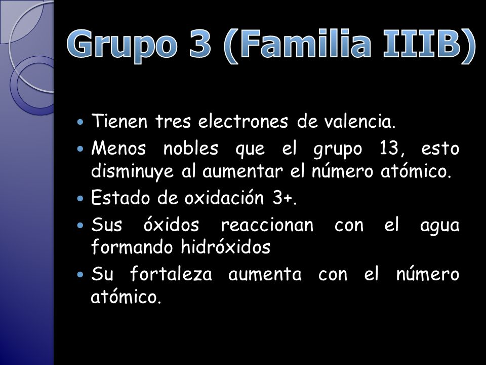 Tabla peridica grupos 3 y 4 ppt video online descargar 2 grupo 3 familia iiib urtaz Choice Image