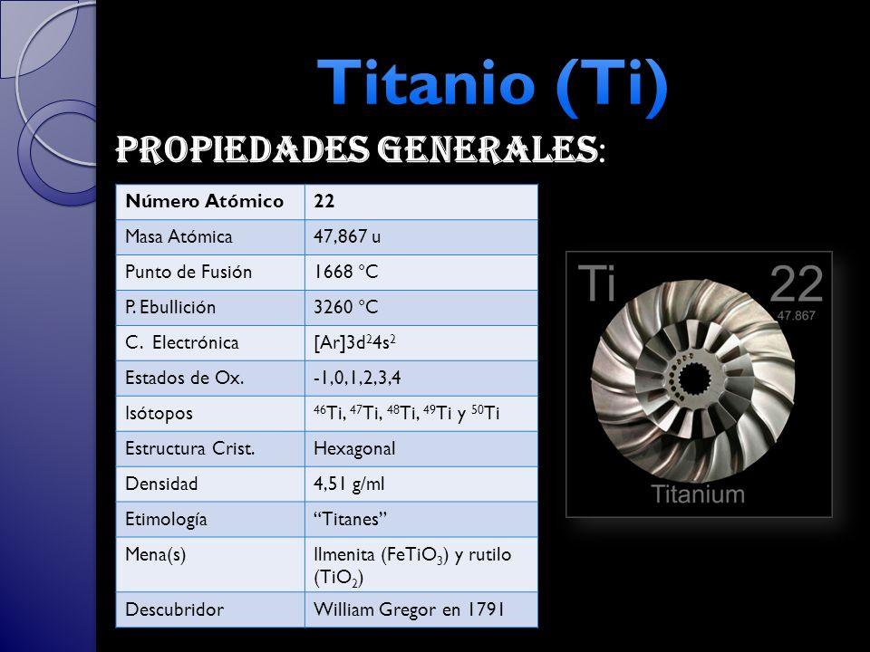 Tabla peridica grupos 3 y 4 ppt video online descargar 23 titanio urtaz Gallery