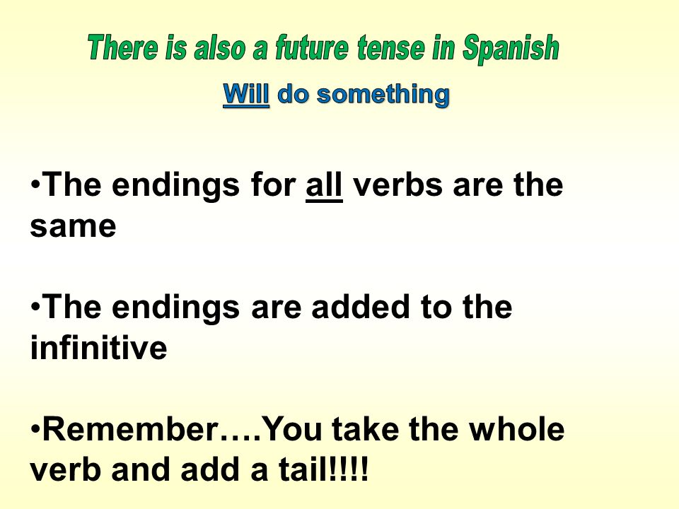 There is also a future tense in Spanish