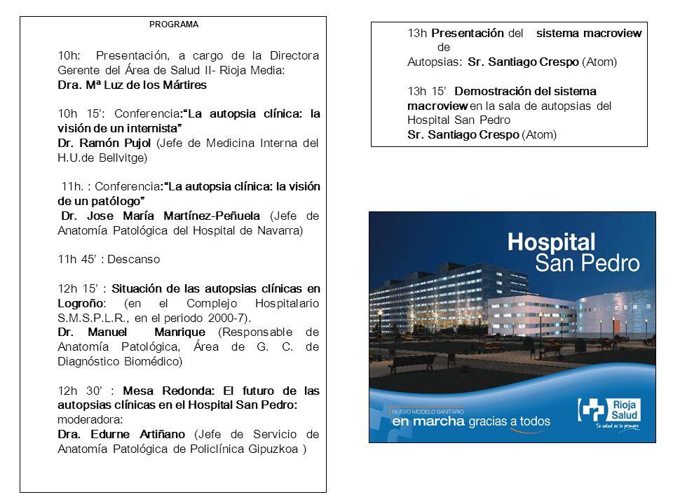 Situación de las autopsias clínicas en Logroño, en el Complejo ...