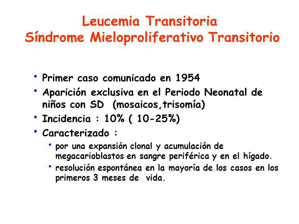 Leucemia Transitoria Síndrome Mieloproliferativo Transitorio