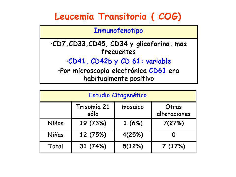 Leucemia Transitoria ( COG)