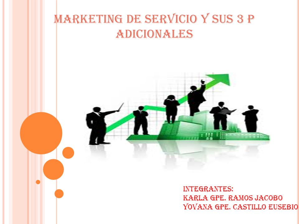 MARKETING DE SERVICIO Y SUS 3 P ADICIONALES