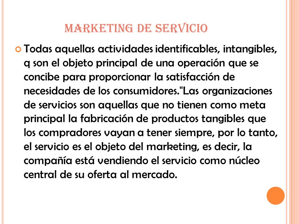 MARKETING DE SERVICIO