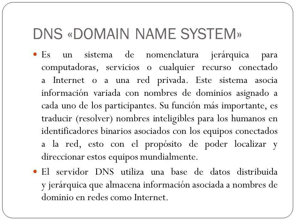 DNS «DOMAIN NAME SYSTEM»