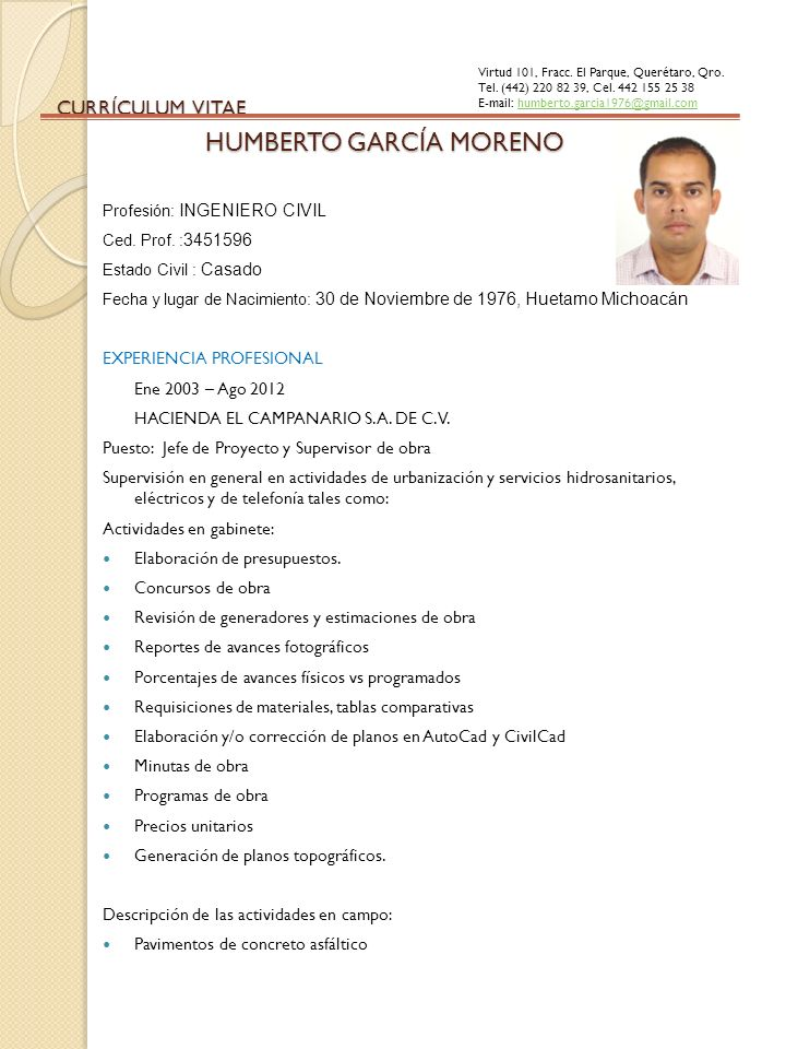 HUMBERTO GARCÍA MORENO - ppt descargar