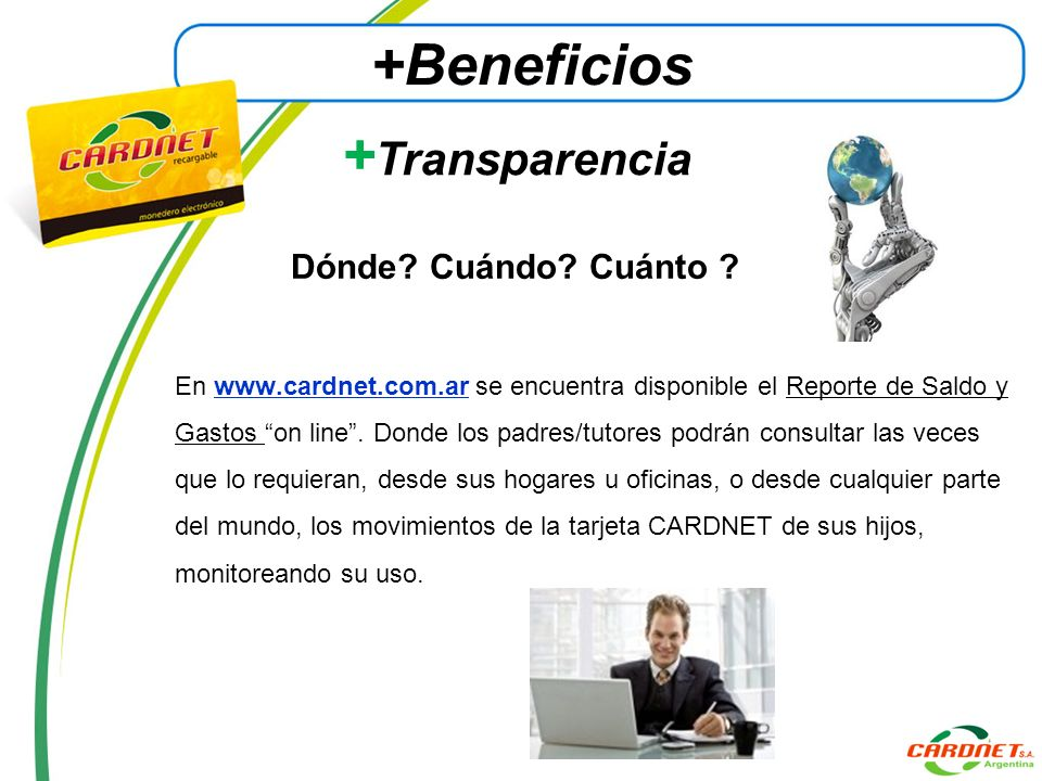 +Beneficios +Transparencia