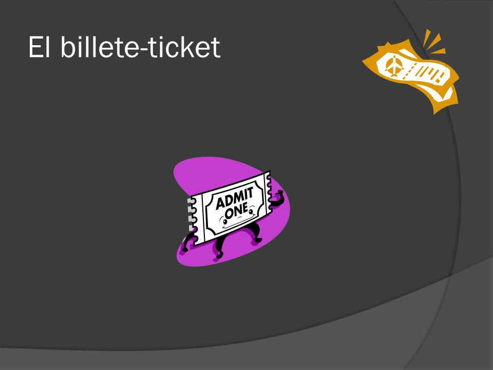 El billete-ticket