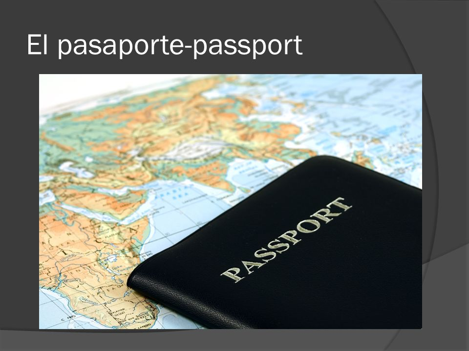 El pasaporte-passport