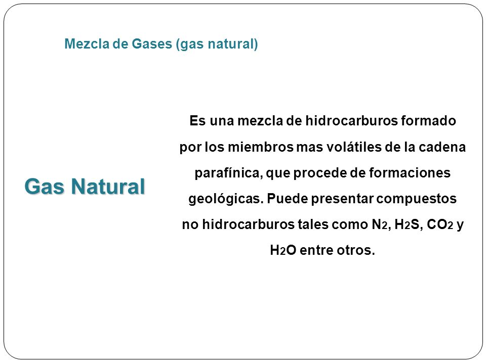 Gas Natural Mezcla de Gases (gas natural)