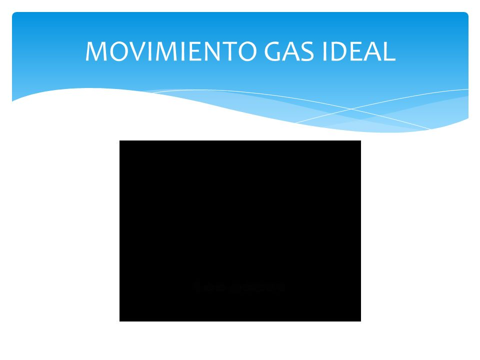 MOVIMIENTO GAS IDEAL