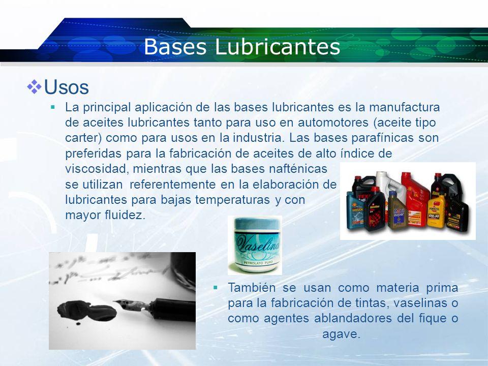 Qué son las bases lubricantes