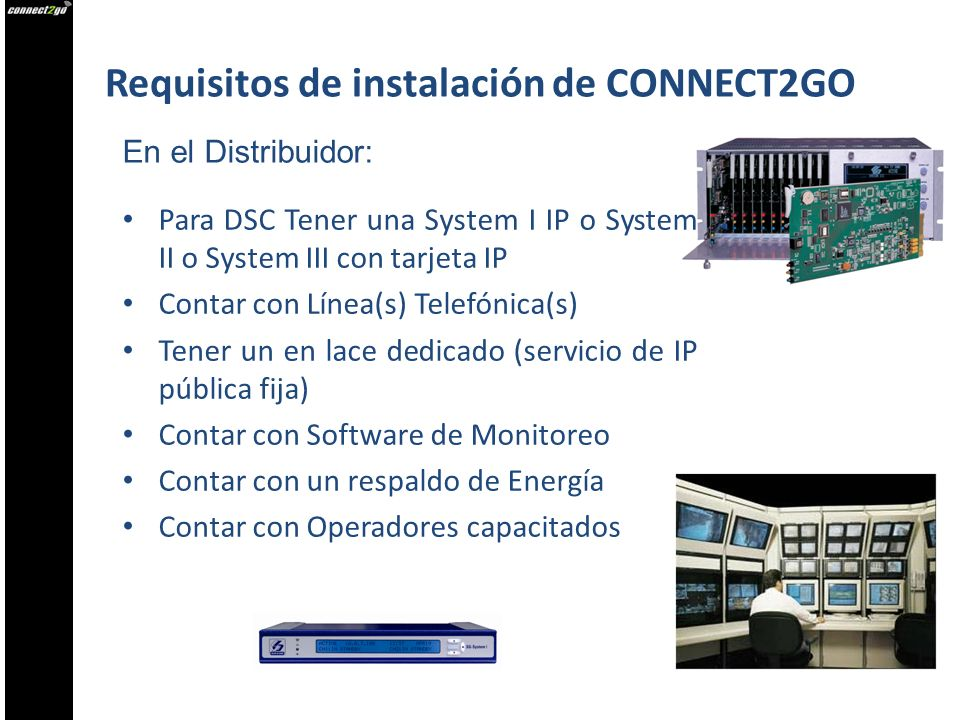 Requisitos de instalación de CONNECT2GO