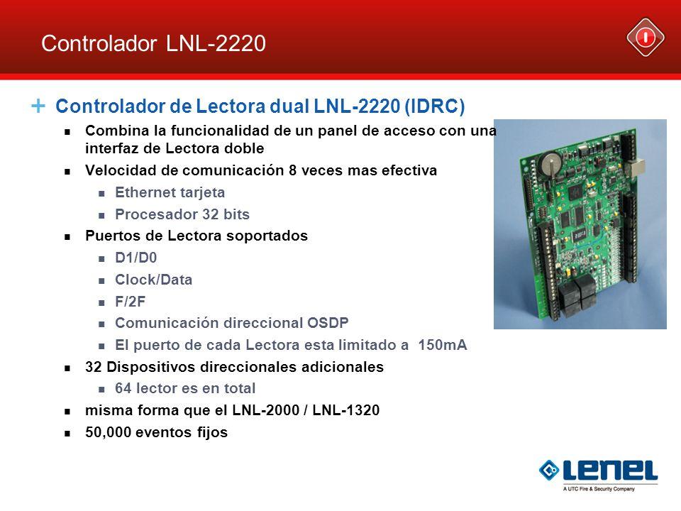 controlador lnl-2220 controlador de lectora dual lnl-2220 (idrc)