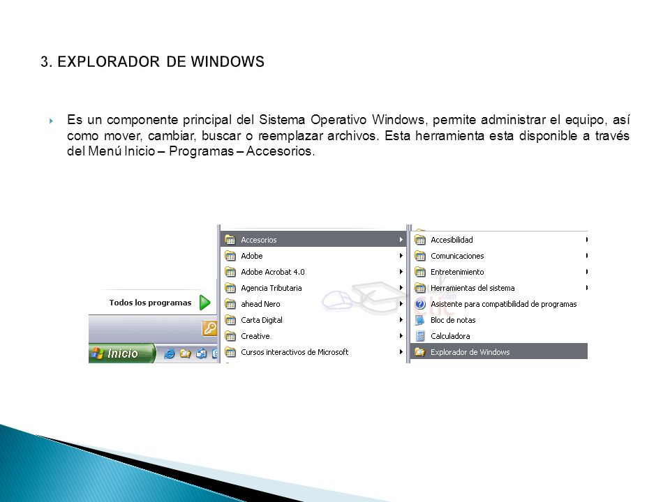 3. EXPLORADOR DE WINDOWS