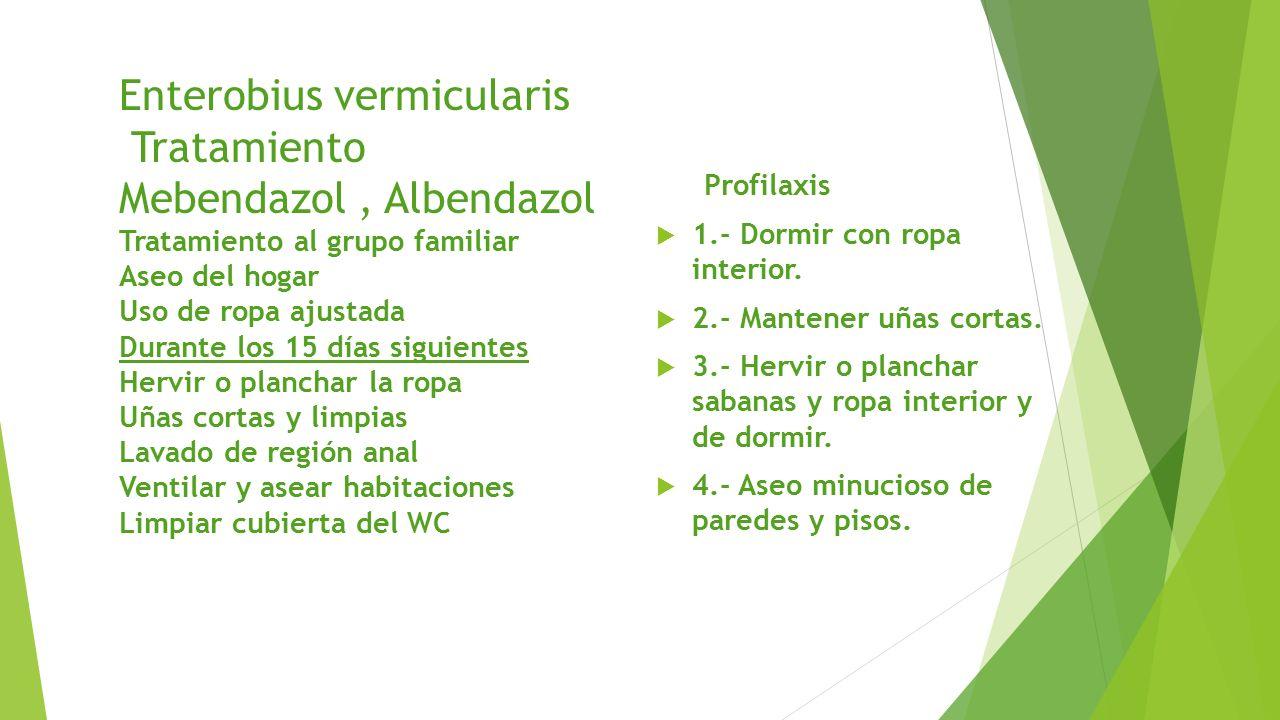 enterobius vermicularis profilaxis