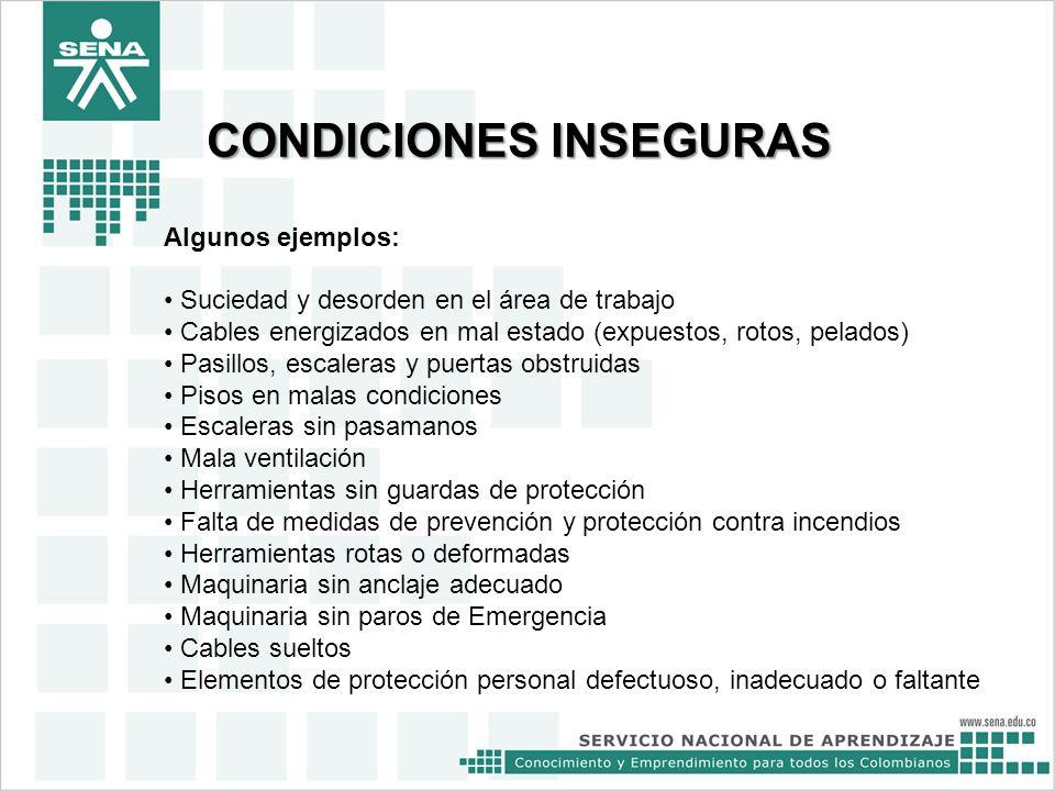 actos y condiciones inseguras