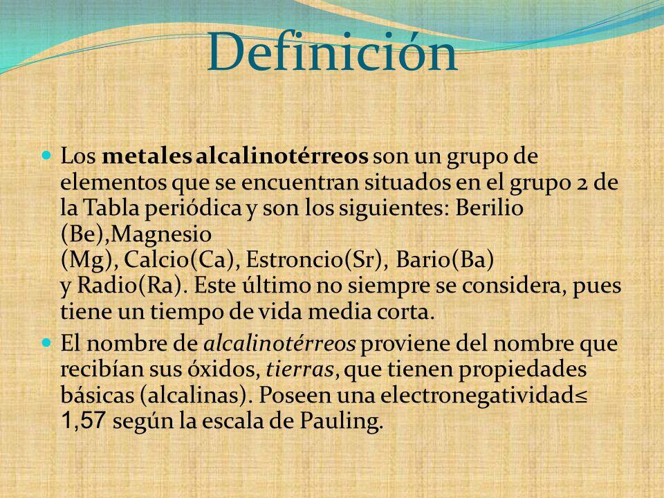 Grupo iia metales alcalinos trreos ppt descargar 2 definicin urtaz Gallery