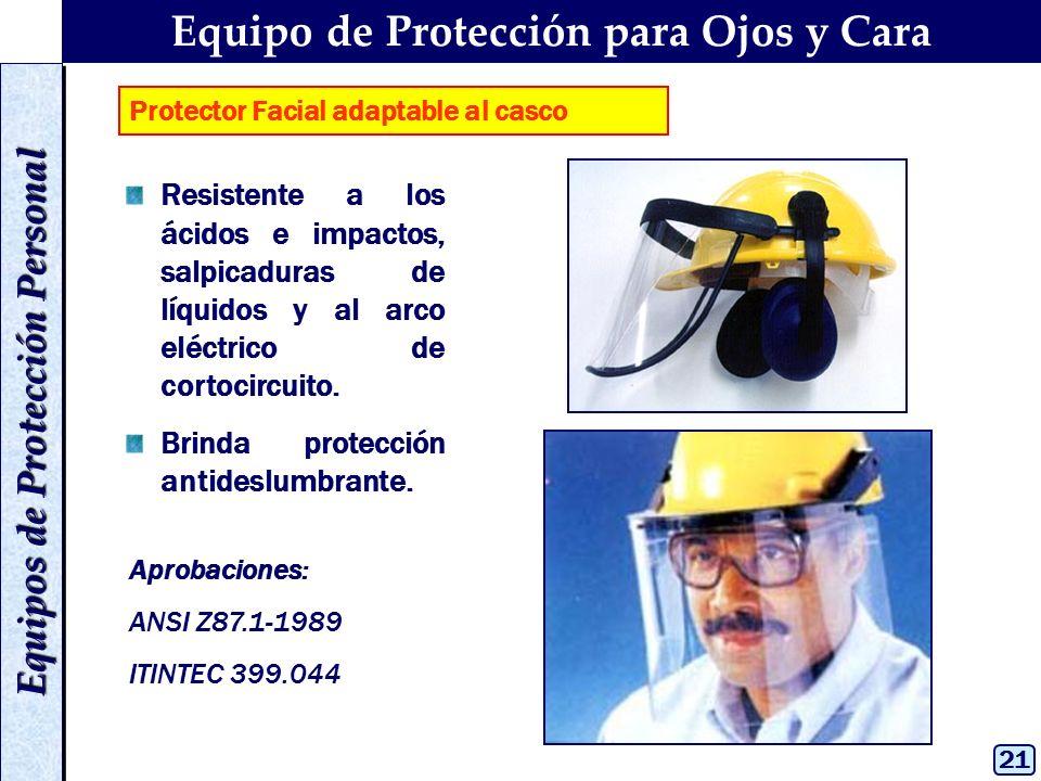 5ff0ab283b Equipo de Protección para Ojos y Cara Equipos de Protección Personal