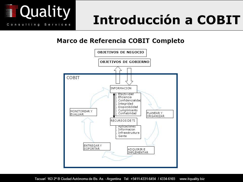 COBIT Objetivos de Control para la Información y Tecnologías Afines ...