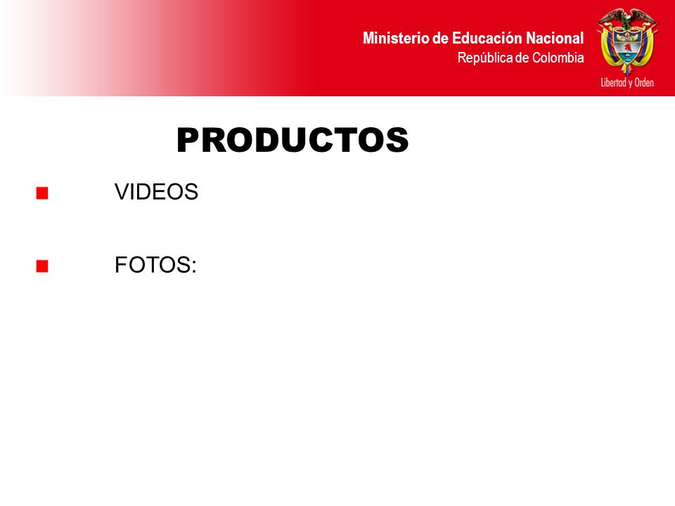 PRODUCTOS VIDEOS FOTOS: