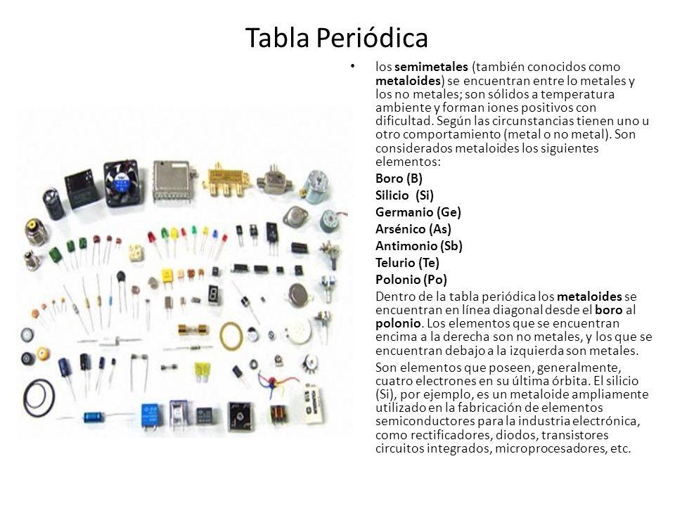Tabla peridica la tabla peridica de los elementos clasifica 21 tabla peridica los semimetales urtaz Choice Image