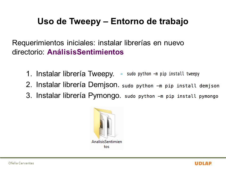 Tweepy install linux