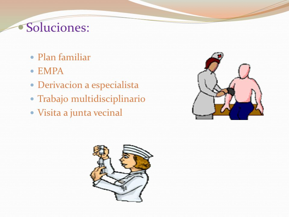 Soluciones: Plan familiar EMPA Derivacion a especialista