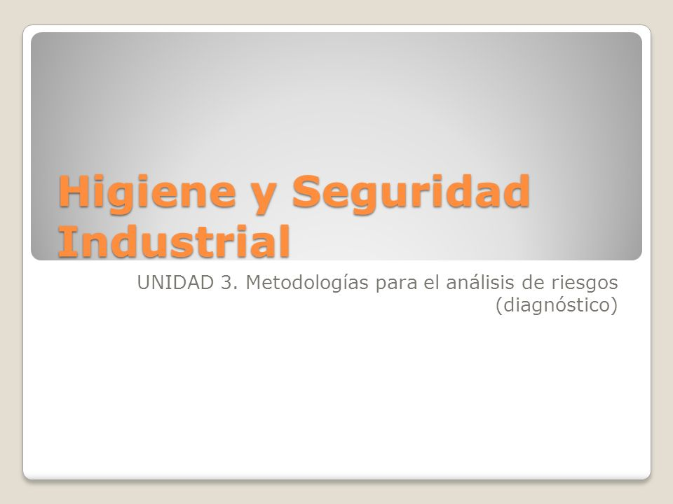 Top Five Unidad 1 Higiene Y Seguridad Industrial Pdf - Circus