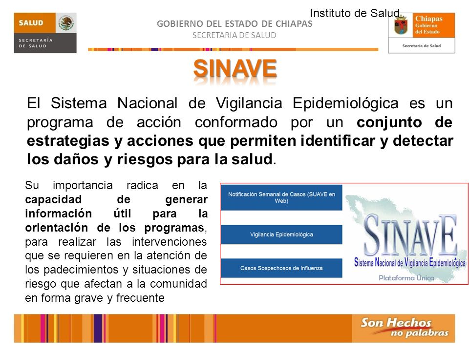 Instituto de Salud SINAVE.