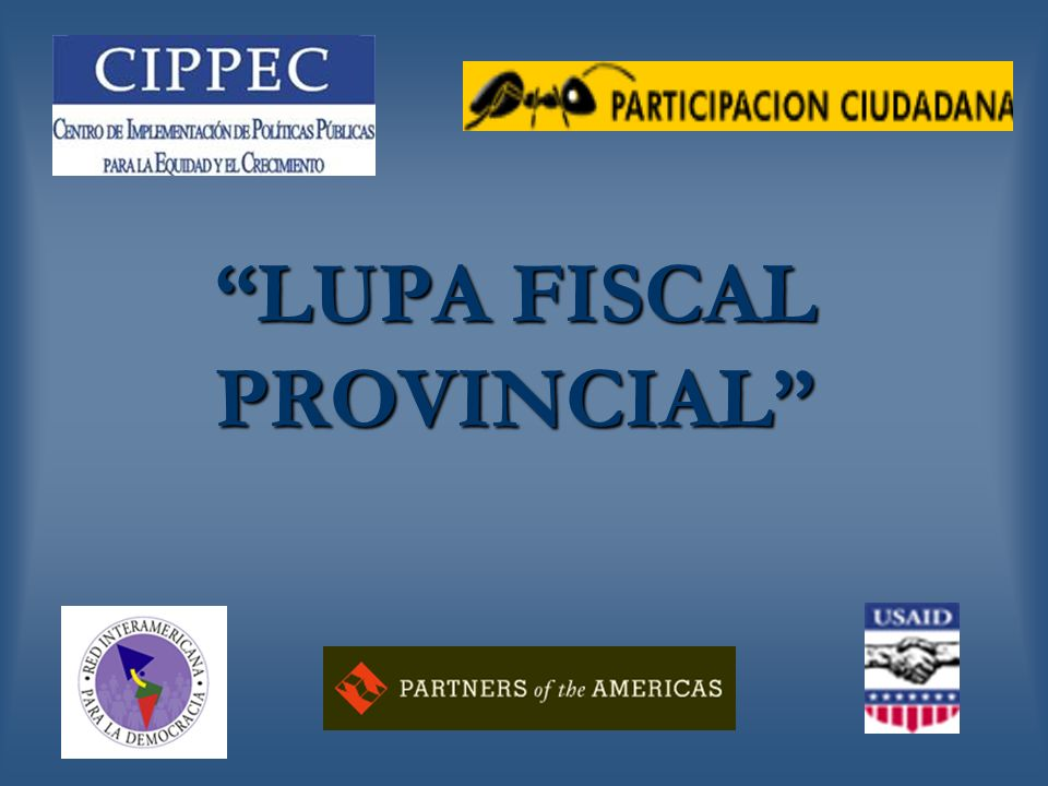 LUPA FISCAL PROVINCIAL