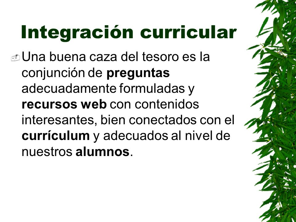 Integración curricular