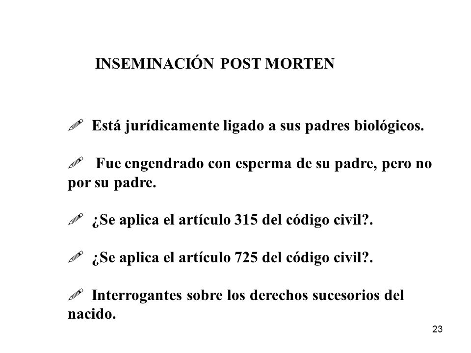 INSEMINACIÓN POST MORTEN