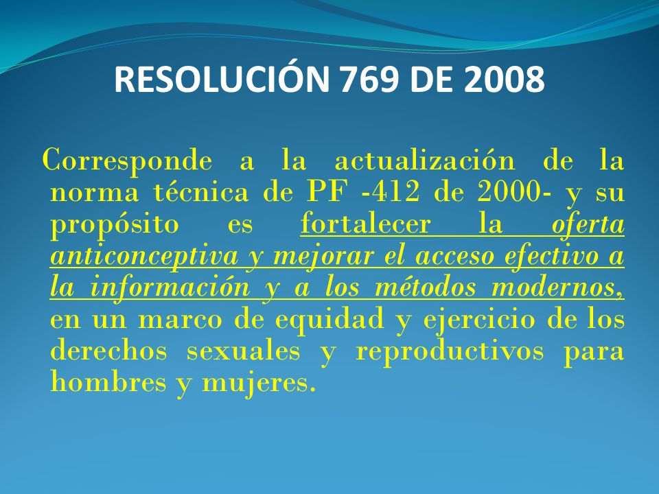 RESOLUCIÓN 769 DE 2008