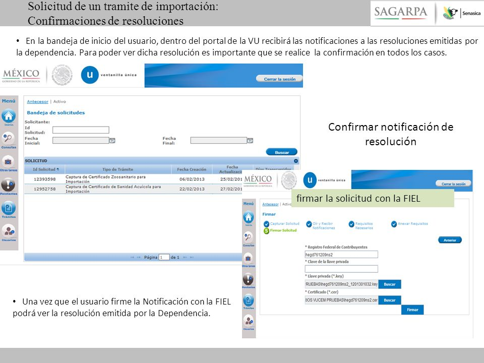 Confirmar notificación de resolución