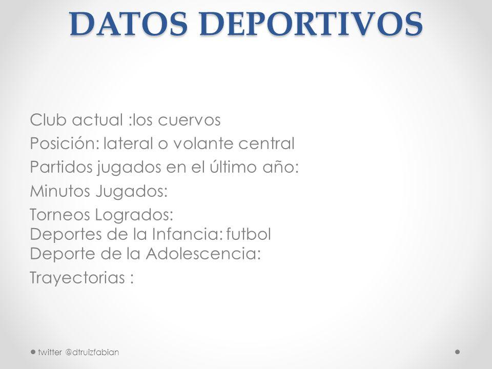 formato de curriculum vitae para futbolistas