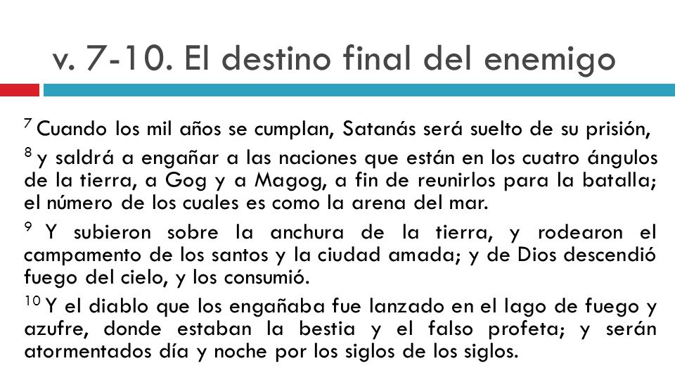 v El destino final del enemigo