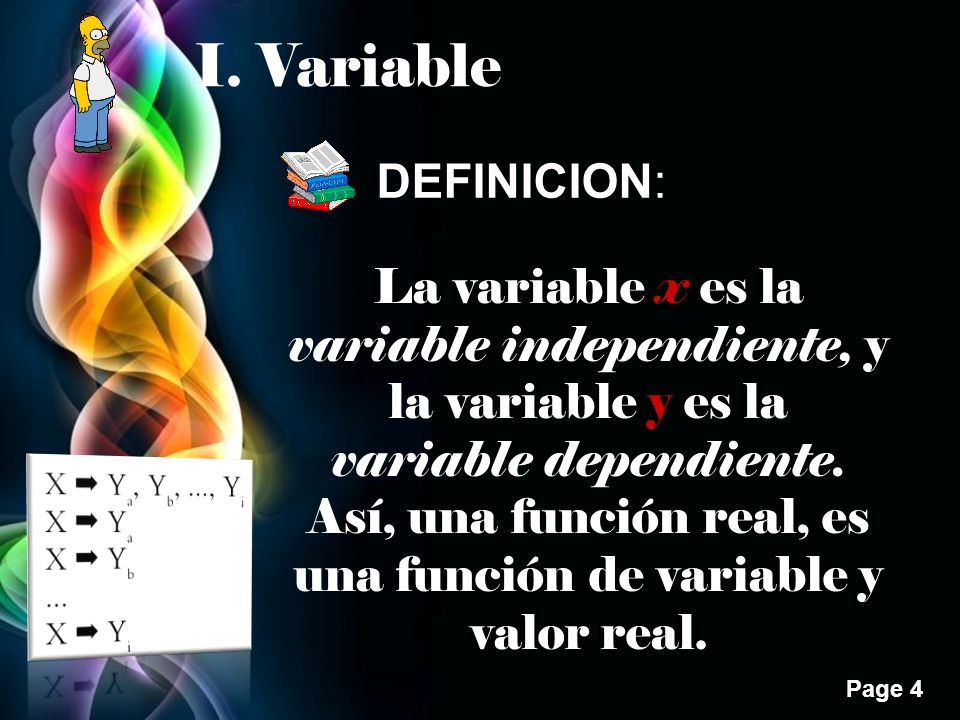 I. Variable DEFINICION: