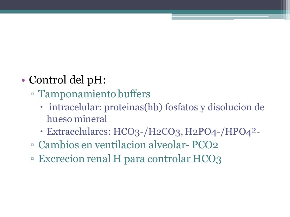 Control del pH: Tamponamiento buffers