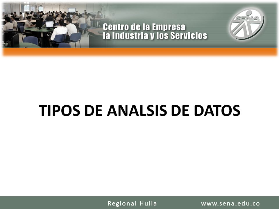 TIPOS DE ANALSIS DE DATOS