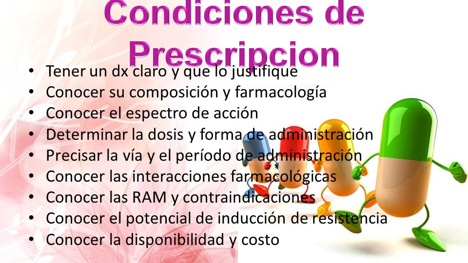 Condiciones de Prescripcion
