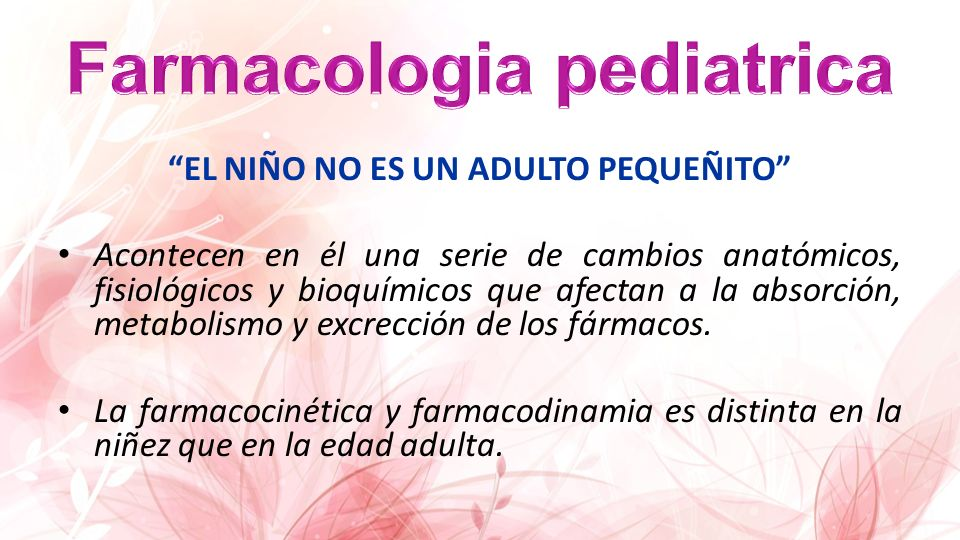 Farmacologia pediatrica