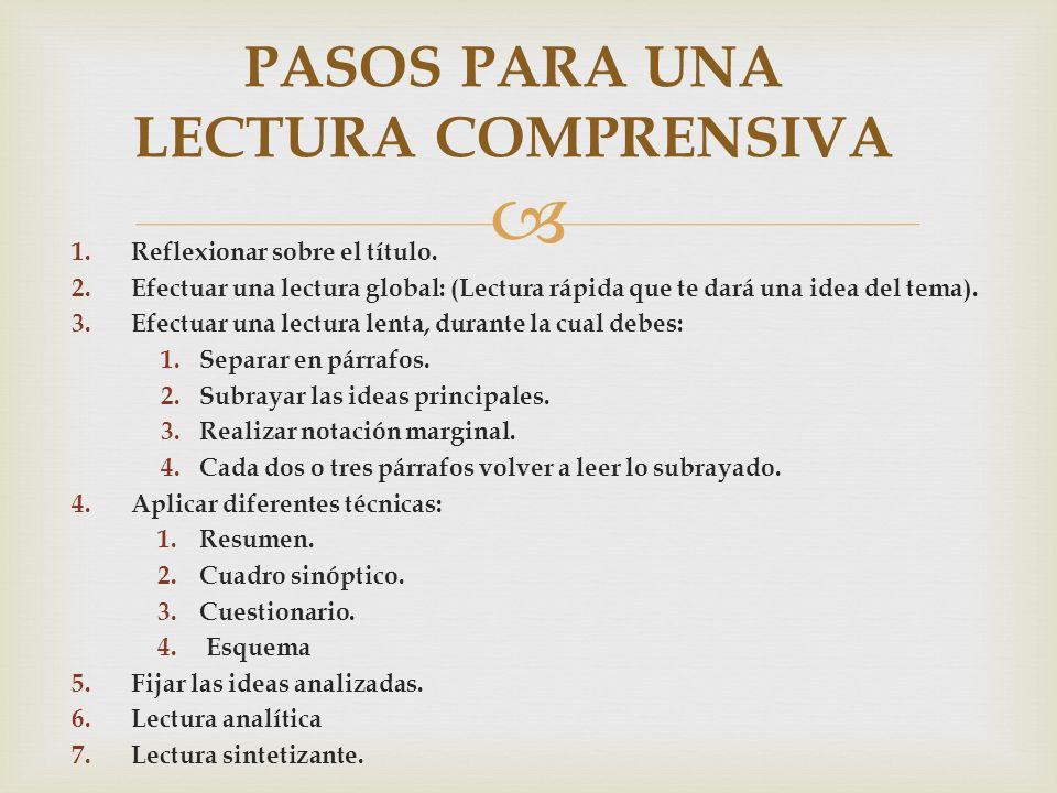 T Cnicas De Lectura Activa Ppt Video Online Descargar