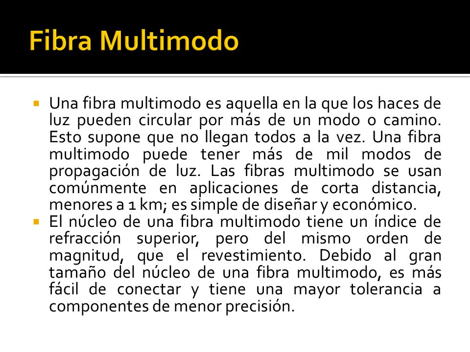 Fibra Multimodo