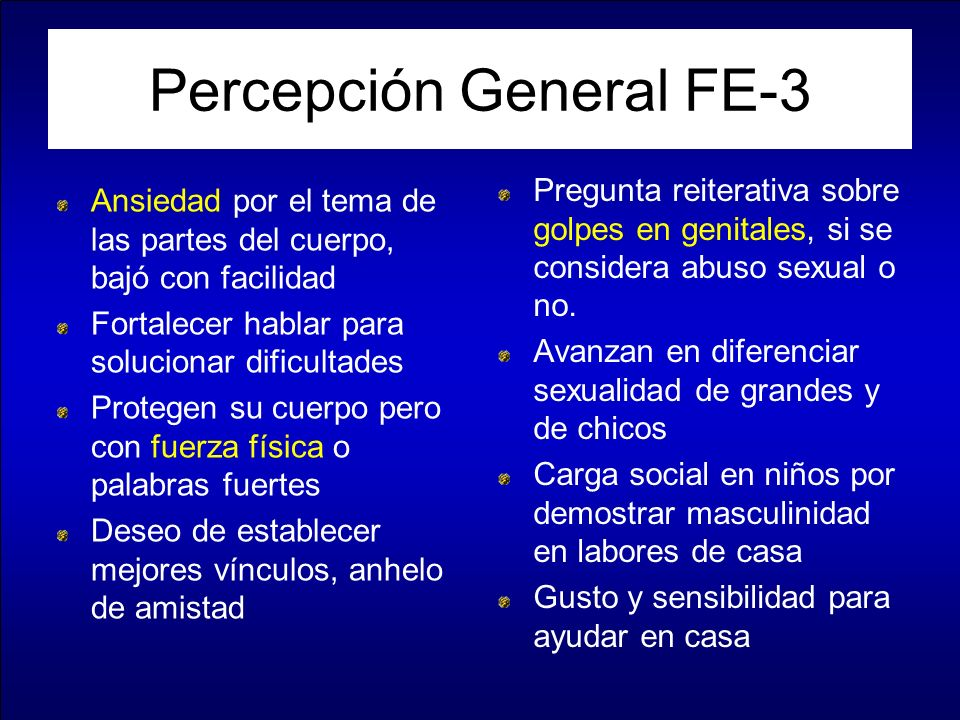 Percepción General FE-3