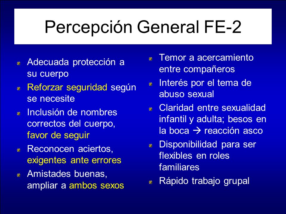 Percepción General FE-2